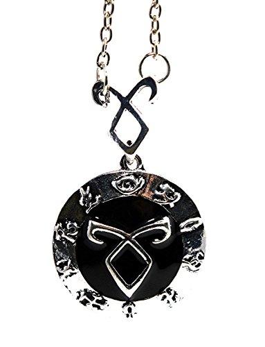 Halskette mit Anhänger im Chroniken-der-Unterwelt-Stil –Angelic Power, Power Rune Shadowunter Clary Fray in Geschenkbox