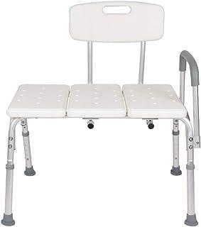 Chair Bathroom Stool Bathing Chair Conjoined Aluminum Shower Chair Elderly Pregnant Woman Bath Stool Adjustable Anti-skid ...