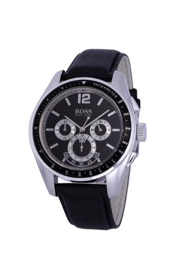Hugo Boss 1512406 - Reloj de Caballero de Cuarzo, Correa de Piel Color Negro