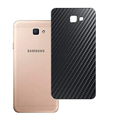Vaxson 2 Unidades Protector de pantalla Posterior, compatible con Samsung GALAXY J7 PRIME 2018, Película Protectora Espalda Skin Cover - Fibra de Carbono Negro