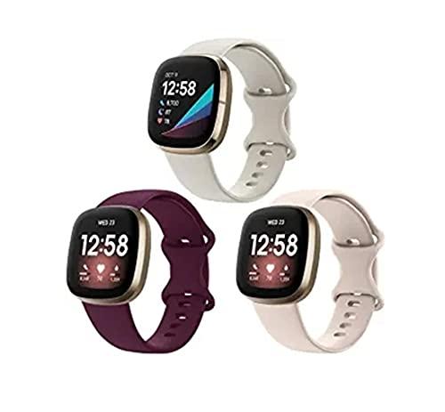 BoLuo Correa para Fitbit Versa 3/Sense,Bandas Correa Repuesto,Correas Reloj,Silicona Reloj Recambio Brazalete Correa Repuesto Strap Wristband para Fitbit Versa 3/Sense Watch Accessories (Color 2, S)