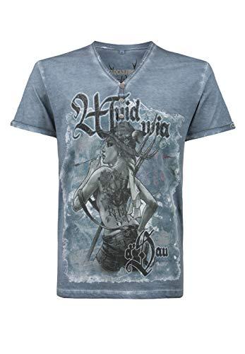 Stockerpoint Herren Rebel Soul T-Shirt, Rauchblau, 2XL