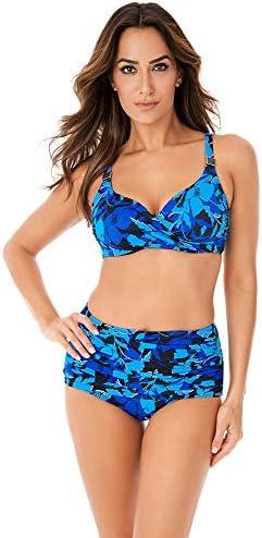Miraclesuit Women s Swimwear Petal Play Norma Jean Tummy Control High Waist Swim Bathing Suit product image
