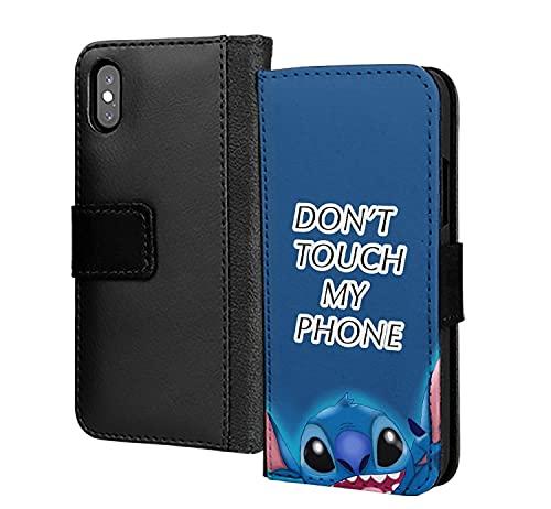 Dont Touch My Phone Lindo Animal PU Cartera de cuero en la tarjeta de la caja del teléfono para Samsung Galaxy A5 2017