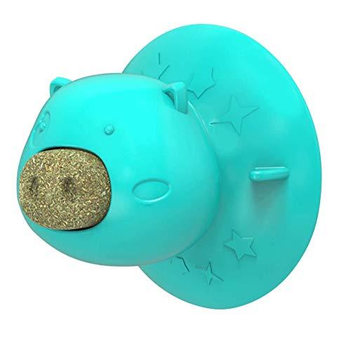 XLKJ Bolas de Hierba Gatera, Juguete Interactivo para Gato con Ventosa, Dulces para Gatos,Bola de Hierba Gatera para Gatos Golosinas Saludables, Juguete de Limpieza de Dientes
