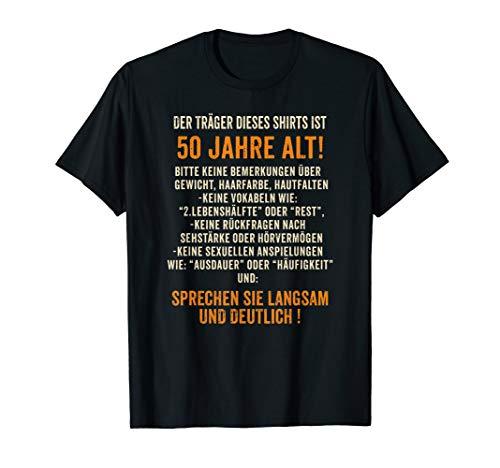 Geschenk zum 50. Geburtstag: Traeger 50 lustiges T-Shirt