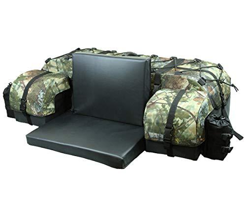 ATV TEK Arch Series Oversized Rear Rack Utility Pack, Padded ATV Cargo Bag - Kings Mountain Shadow Camo