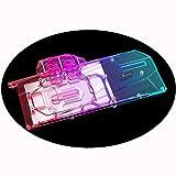 Bykski GPU Waterblock G1/4 Full Cover GPU Water Cooler Water Block PC Liquid Cooling Cooler Back Plate for Graphics Card iGame RTX 3080 RTX 3090 Ultra Advanced OC (12V 4-Pin RGB LED Lights)