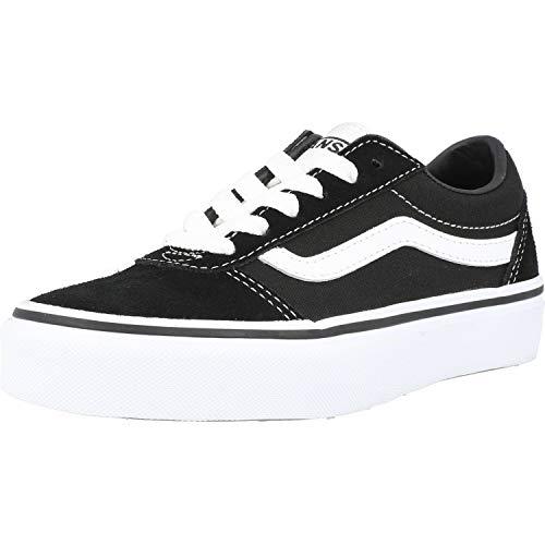 Vans Unisex Kinder Ward Suede/Canvas Sneaker, Schwarz ((Suede/Canvas) Black/White Iju), 38 EU