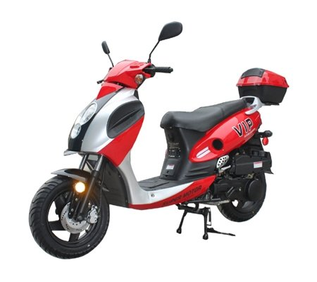 SmartDeals Now brings Brand new 150cc Gas Street Legal Scooter with trunk - Red