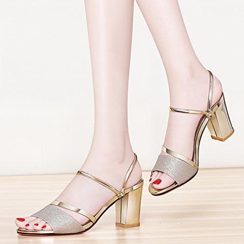 SUHANG sandals Sandales femelle Quarter Pantoufles à talons hauts Rugueuses avec la fille, enveloppé dans un grand Nombre des femmes Chaussures