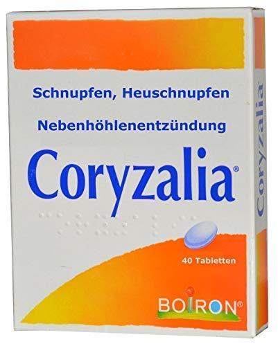 Coryzalia - bremst natürlich Schnupfen jeder Art, allergisches Schnupfen, bei Erkältung, Nebenhöhlenentzündung, Heuschnupfen, homäopatisches Mittel, 40 Tabletten, bis 4 Tabl. täglich, globuli