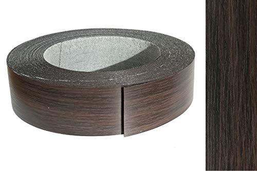Kantenumleimer Melamin 45mm x 5m mit Schmelzkleber Eiche Wenge, mokka Dekor