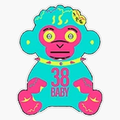 "LAD Studio Youngboy Never Broke Again Rare Monkey Gear, Merch NBA, NBA Youngboy Rave Merch Sticker Vinyl Bumper Sticker Decal Waterproof 5"""
