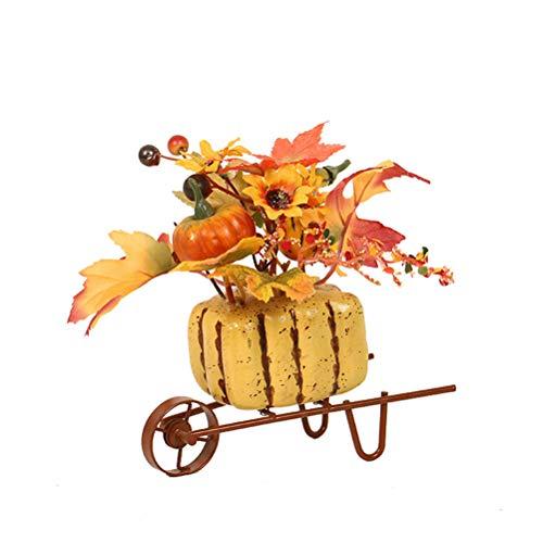 Triciclo de hierro calabaza girasol Craft decoración de escritorio para el hogar ornamento para estudio oficina