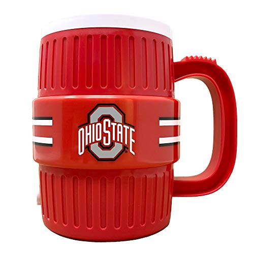 Party Animal NCAA Ohio State Buckeyes Unisex Water Cooler Mug, Team Color, 40-Ounces