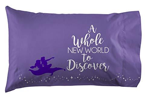 Jay Franco Disney Aladdin Magic Carpet 1 Pack Pillowcase - Double Sided Kids Super Soft Bedding (Official Disney Product)