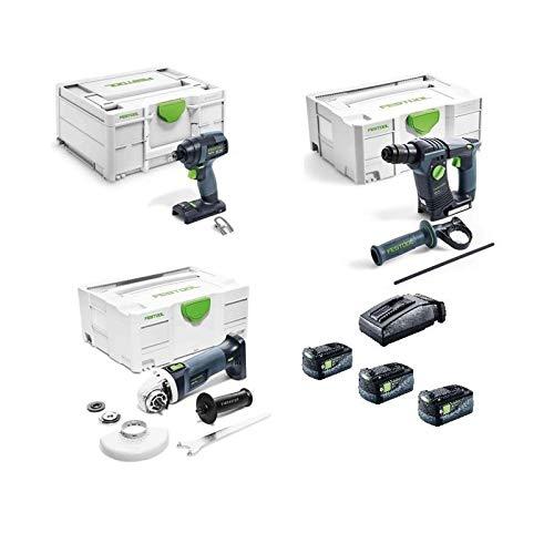Festool 405017 TID Schlagschrauber + AGC Schleifer + BHC Hammer