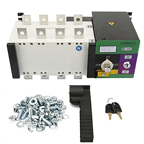 250A 4P 1Pc Interruptor de transferencia automática de doble potencia Interruptor de cambio Disyuntor de alta precisión eléctrico para lugares de suministro de energía