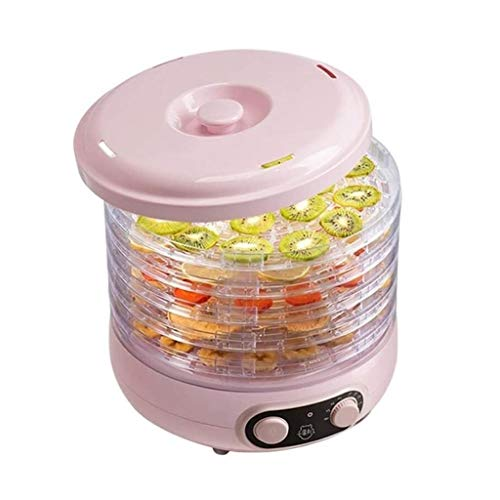 Find Bargain SMLZV Countertop Portable Electric Food Fruit Dehydrator Machine with Adjustable Thermo...