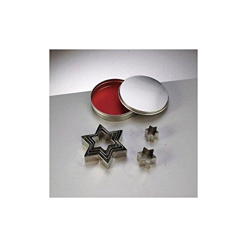 Efco Emporte-pièces en INOX, 7 étoiles, de 2,5 cm à 8 cm