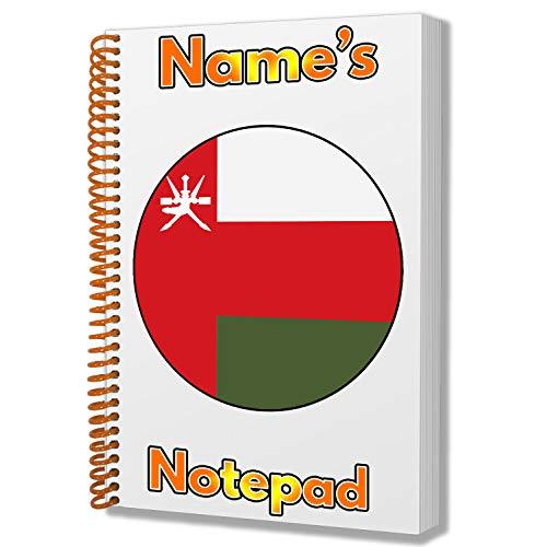 Gepersonaliseerd geschenk - Oman Vlag A5 Kladblok/Notitieboekje - Cadeau - Verjaardag - Kerstmis - Kachelvuller - Geheime Kerstman - ADD Elke Naam