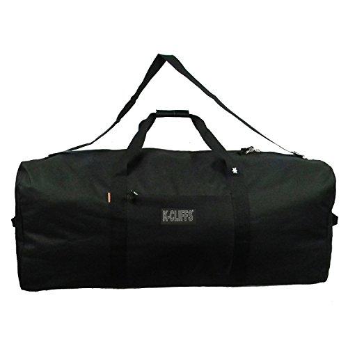 Heavy Duty Cargo Duffel Large Sport Gear Drum Set Equipment Hardware Travel Bag Rooftop Rack Bag (36 x 17 x 17, Black)