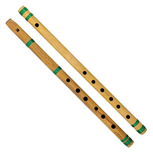 India bansuri flauta de bambú, juego de 2, fipple y transversal, para los niños