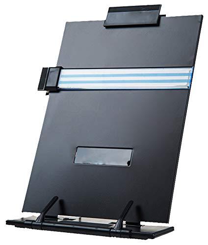 Lawei Schreibtisch-Dokumentenhalter Konzepthalter mit Verstellbar Clip für Briefe A4 Dokumente - bis zu 150 Blatt