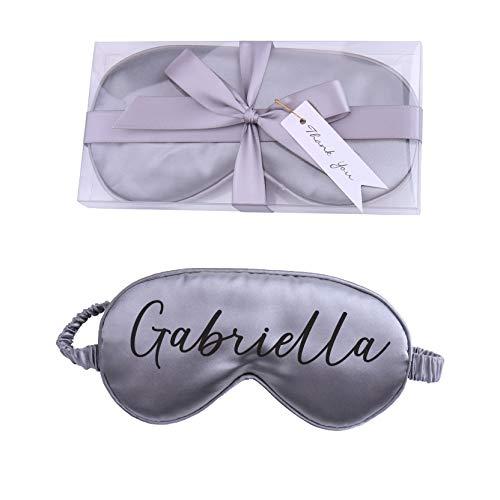 Personalisierbare Satin-Schlafmaske mit Geschenk-Box.