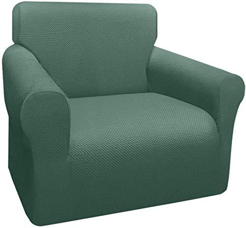 Mazu Homee - Funda de sofá gruesa de 1 pieza, 3 fundas de sofá elásticas, la última funda de sofá elástica para mascotas, cojín de protección de muebles para niños (color camello