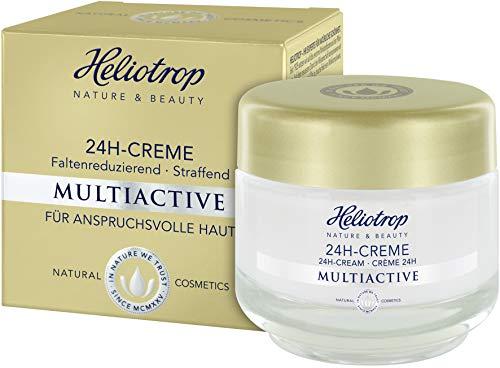 HELIOTROP Naturkosmetik MULTIACTIVE 24h-Creme, Mit wirkungsvollem Straffungseffekt, Mindert Falten, Schenkt rund um die Uhr ein strafferes Hautbild, 50ml