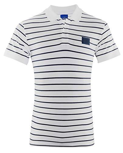 FC Schalke 04 Herren Polo Shirt 1904 weiß gestreift (XXL)