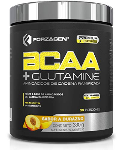 Forzagen BCAA + Glutamine | Aminoácidos de Cadena Ramificada (BCAA 2:1:1) + L-Glutamina | Con Complejo de Hidratación Hydragen a Base de Agua de Coco y Calcio | 330 g | 30 Servicios x Envase | Delicioso y Refrescante Sabor a Piña | 8 g de Proteína por Servicio | Bajo en Carbohidratos | Sin Azúcar Añadida | Bebida Pre-Post-Intra Entrenamiento | Fácil y Rápida Preparación | Suplemento Gym