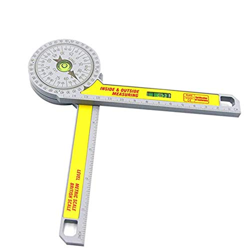 Professional Miter Saw Protractor Pro-Site, Digital Angle Finder With High Precision Rectangular Horizontal Bubble Level Measure Tool