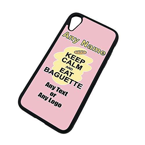 Gepersonaliseerd geschenk - Houd kalm Eet Baguette iPhone Xs/Xs Max / XR Case (Voeding Design) Elke Naam Bericht Unieke Apple TPU Cover - Draag Poster Party Dieet Snack Cake Fruit Cream Veg Pizza Chips Brood