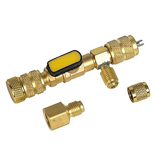 Banapo 1PC Valvola Core Remover Installer Tool 1/4 '& 5/16' Aria Condizionatore Valvola Chiave Strumento Refrigerazione R410A R22 (Nessuna Perdita di Gas)