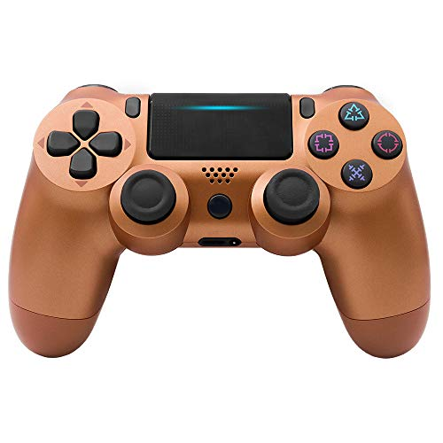 Wireless Gaming Controller, PS4 Controller, Wireless Bluetooth 4.0 Controller, 4 Joystick Dual Joystick Gamepad - Bronze