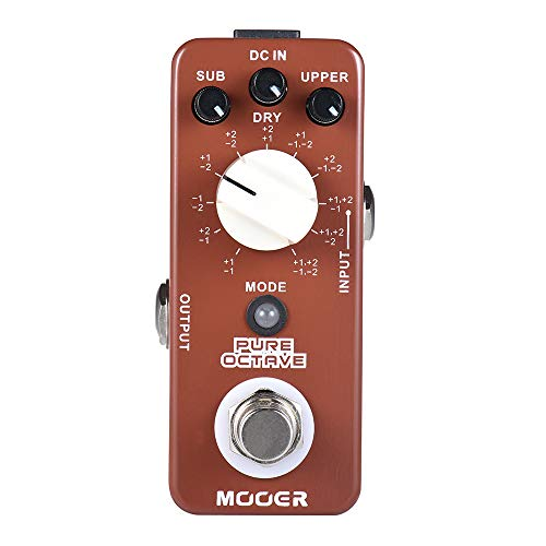 CAMOLA Mooer Pure Octave Digital Octave Guitar Effect Pedal 11 Octave Modes True Bypass