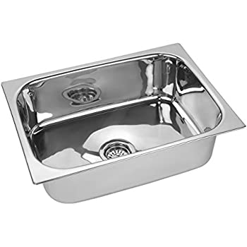 Jindal 204 Grade Stainless Steel Kitchen Sink 16 X 18 X 8 Inches Silver Amazon In Home Improvement