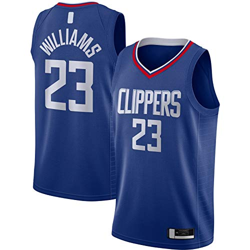 YUEJI Royal -2020/21 Swingman Jersey Williams Custom LA Traning Jersey Clippers Sportswear Baloncesto Jersey #23 LA Icon EditionLou Icon Edition-M