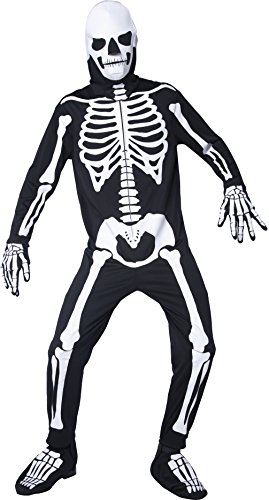 SMIFFYS Gothic Manor Graveyard Bones, Glow in the Dark Fancy Dress Man Costume