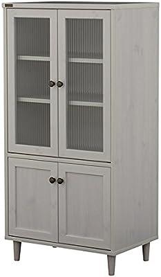 佐藤産業 POWRY キャビネット 食器棚 幅60cm 奥行40cm 高さ120cm ホワイト 可動棚 PW120-60G WH