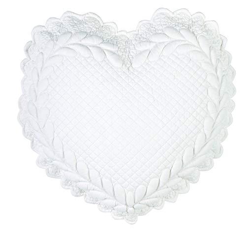 Blanc Mariclo Cojín con forma de corazón, color marfil, 42 x 42 cm, a2928099av