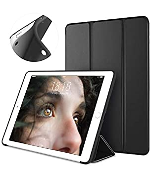 DTTO Mini Case for iPad Mini 3/2/1  Not Compatible with Mini 5th Generation 2019  Ultra Slim Lightweight Smart Case Trifold Cover Stand with Flexible Soft TPU Back Cover [Auto Sleep/Wake],Black