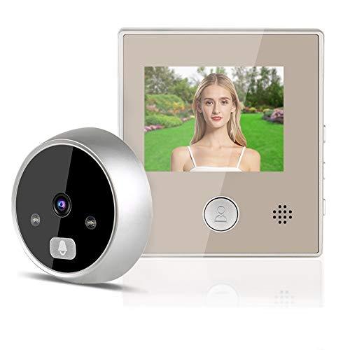 Timbre con video de 3 pulgadas, timbre con videoportero, timbre con video inteligente inalámbrico con visión nocturna y sistema de acceso, cámara de puerta, sistema de seguridad para el hogar