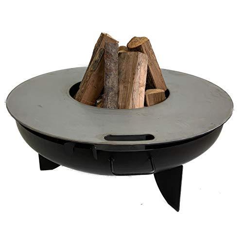 A. Weyck Tools Feuerplatte Grillplatte für Feuerschale 85cm, 40cm Innen Loch Plancha Grill BBQ