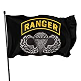 AGnight Flagge Fahnen Banner Us Army Ranger Tab Decorative Garden Flags, Outdoor Artificial Flag for Home, Garden Yard Decorations 3x5 Ft
