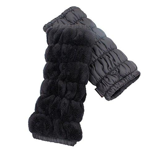 Happy Warmmy (ハッピーウォーミー) レッグウォーマー ブラック×ブラック