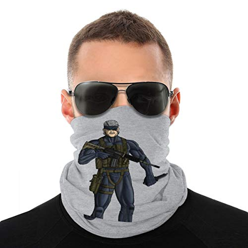 NBUQSG Metal Gear Solid 4 Old Snake Variety Head Scarf Face Mask Magic Headwear Neck Gaiter Face Bandana Scarf